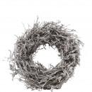 wholesale Artificial Flowers: Wreath Jaron D45cm, bead ca.15cm, white